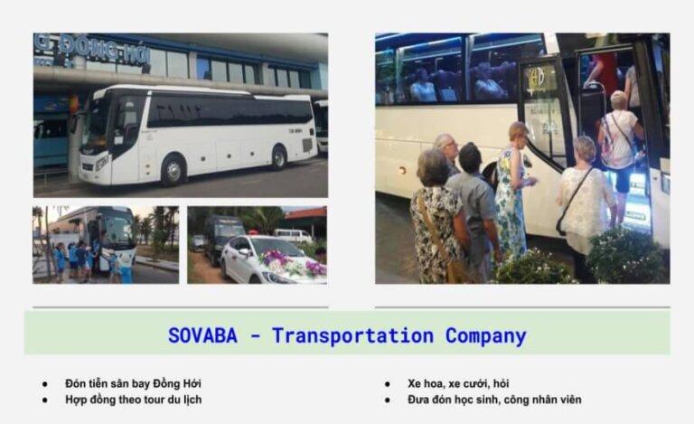 Các dịch vụ cho thuê xe tại SOVABA (QBTravel)