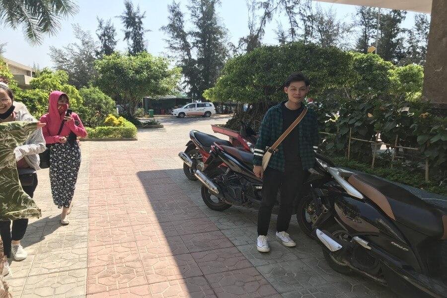 thuê xe máy đồng hới quảng bình giao tận nơi cho khách hàng tại khách sạn