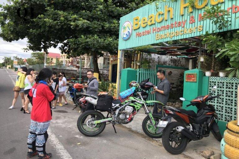 hỗ trợ homestay nghỉ nghơi nếu chưa đến giờ thuê xe máy ở Quảng Bình
