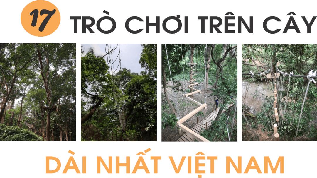Tham gia 17 trò chơi trên cây dài nhất Việt Nam