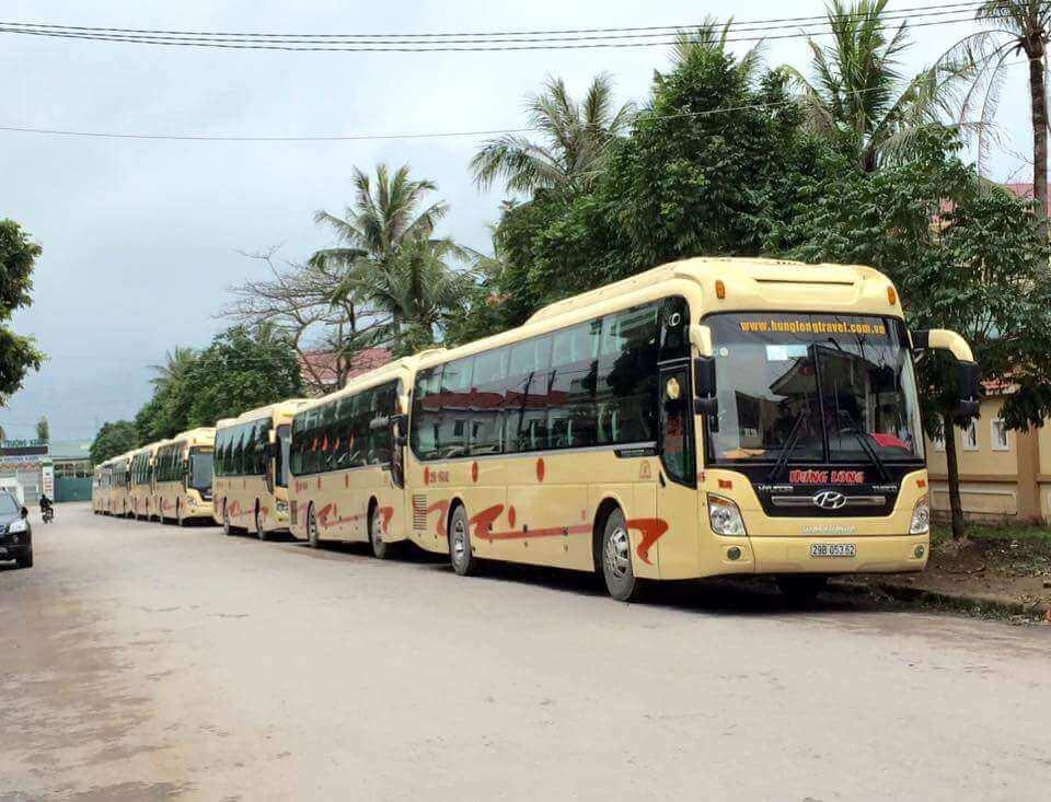 Xe khách Hưng Long tuyến Hà Nội - Quảng Bình