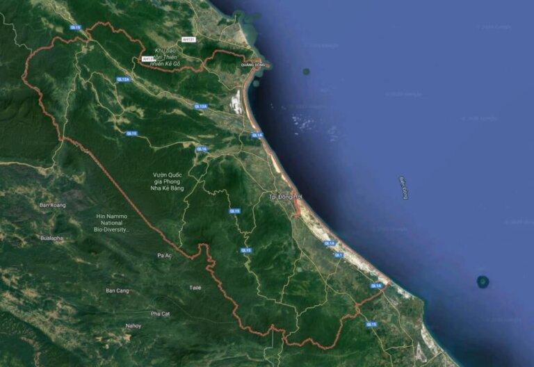 Hơn 80% tổng diện tích tự nhiên của tỉnh Quảng Bình là đồi núi