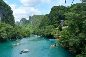 Hệ thống đu dây tự do cáp dài nhất Việt Nam.
