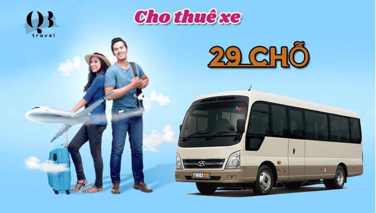 Ngoài cho thuê xe du lịch, dịch vụ xe 29 chỗ của QBTravel còn phục vụ các nhu cầu khác
