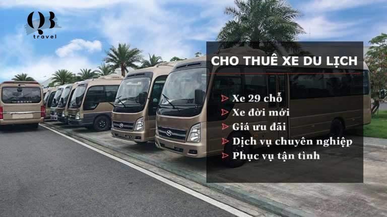 QBTravel cho thuê xe 29 chỗ tại Quảng Bình uy tín nhất