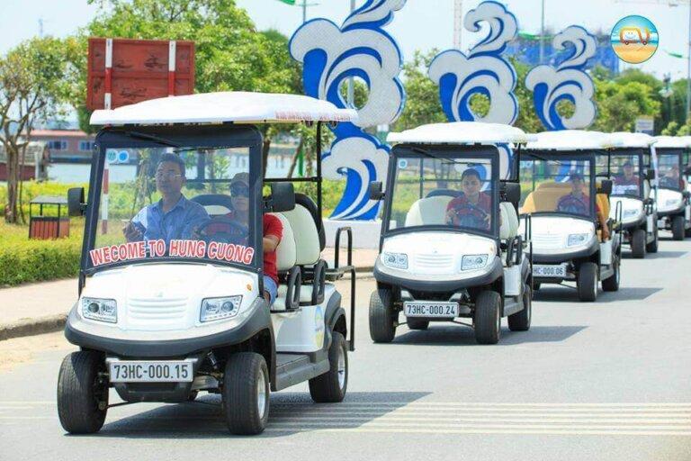 Xe điện du lịch tại thành phố Đồng Hới