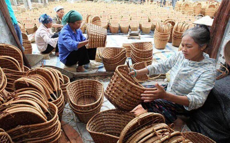 Vẻ đẹp bình yên của làng đan lát Thọ Đơn với những sản phẩm thủ công mỹ nghệ