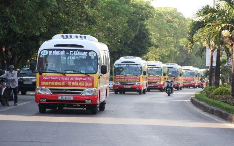 Tuyến xe buýt Quảng Bình B2 đi từ Đồng Hới đến Kiên Giang (huyện Lệ Thủy)