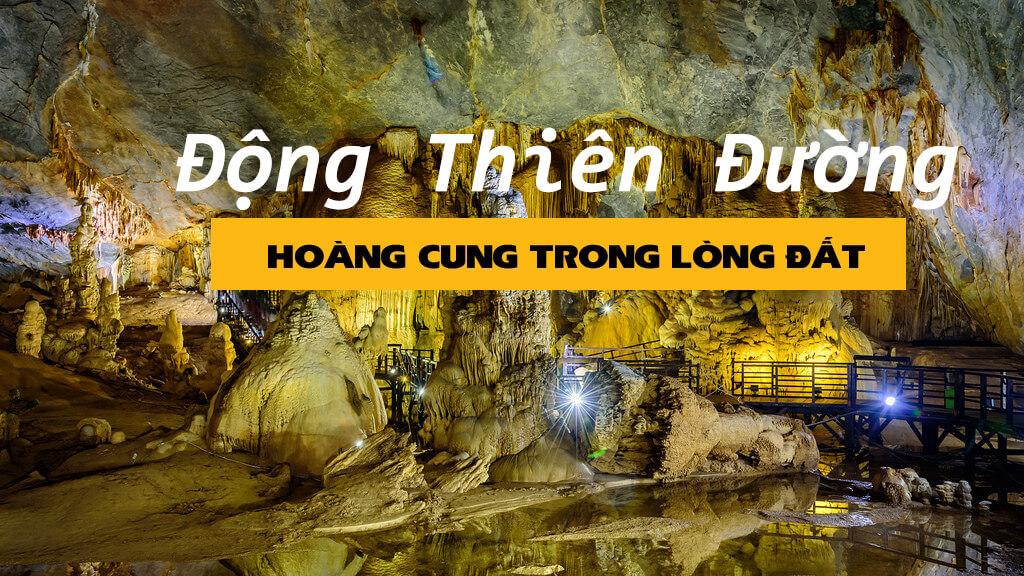 Động Thiên Đường Quảng Bình khi càng đi sâu vào bên trong thì hệ thống măng đá, nhũ đá càng hiện ra rực rỡ và kỳ ảo
