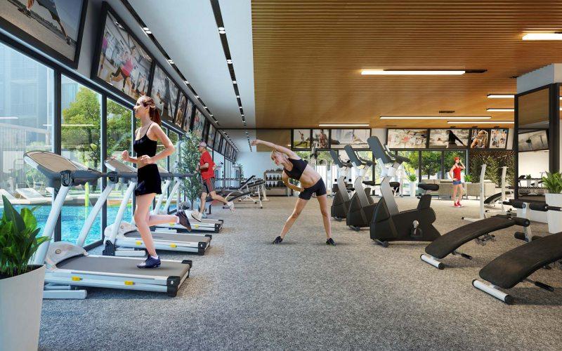 Phòng GYM trang bị những thiết bị hiện đại nhất tại Mường Thanh Quảng Bình