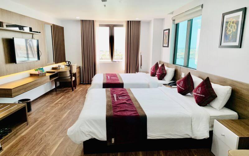 Deluxe 2 giường tại khách sạn CKC Thiên Đường Quảng Bình
