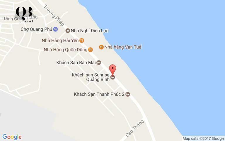Đường đến khách sạn Sunrise Quảng Bình