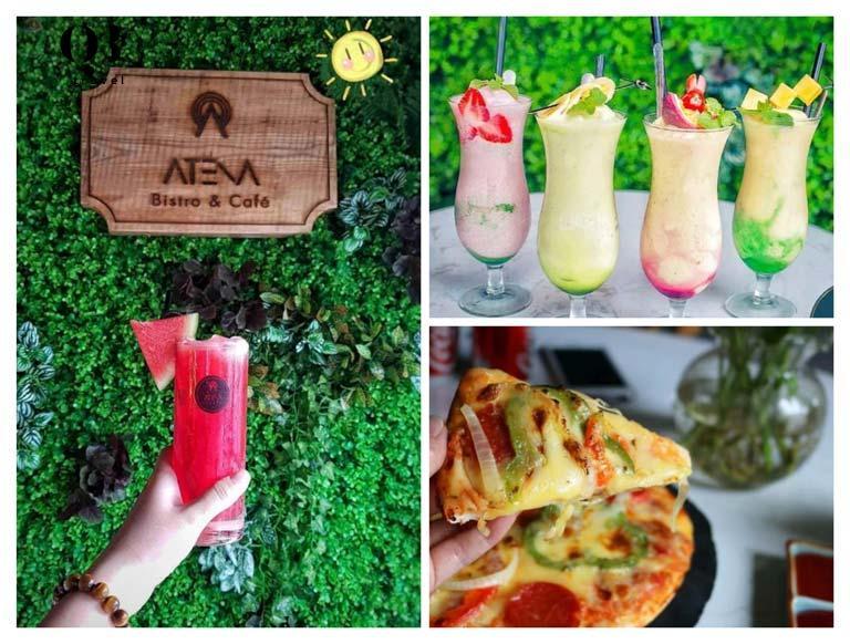 Atena Bistro Cafe có nhiều món ăn ngon và đồ uống tươi mát, ngọt ngào