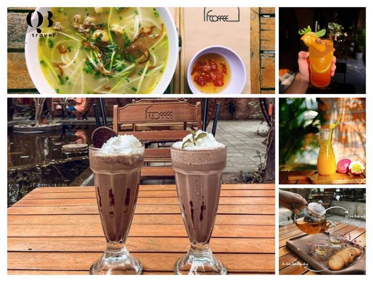 F coffee phục vụ nhiều loại đồ ăn và đa dạng hương vị cafe cùng các thức uống khác