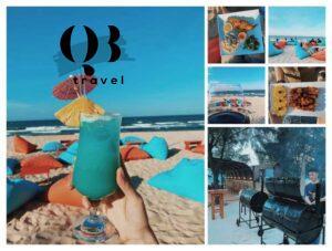 Khoảnh khắc thưởng thức thức uống và món ăn của Buffalo Beach Bar và ngắm nhìn vẻ đẹp tuyệt vời của biển