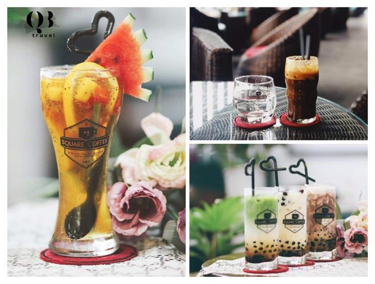 Hương vị đồ uống hấp dẫn tại Square Coffee
