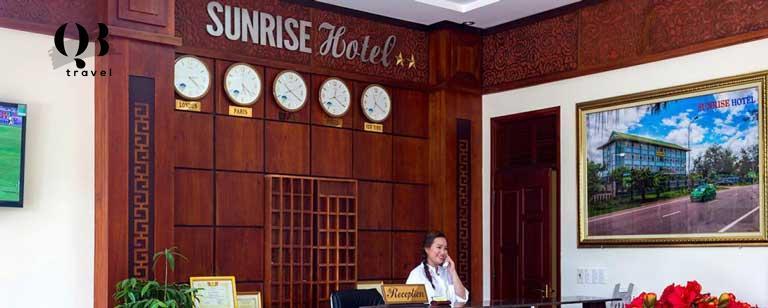 Quầy lễ tân của khách sạn Sunrise Quảng Bình