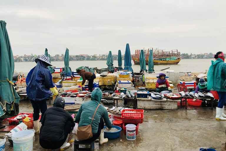 Hải sản được đưa lên chợ đều rất tươi và còn sống
