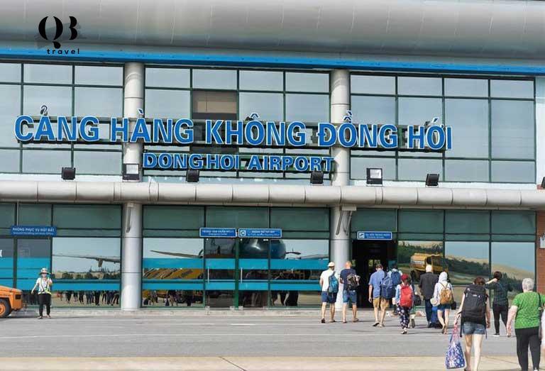 Tới Sân bay Đồng Hới để có thể di chuyển tới đập đá mài