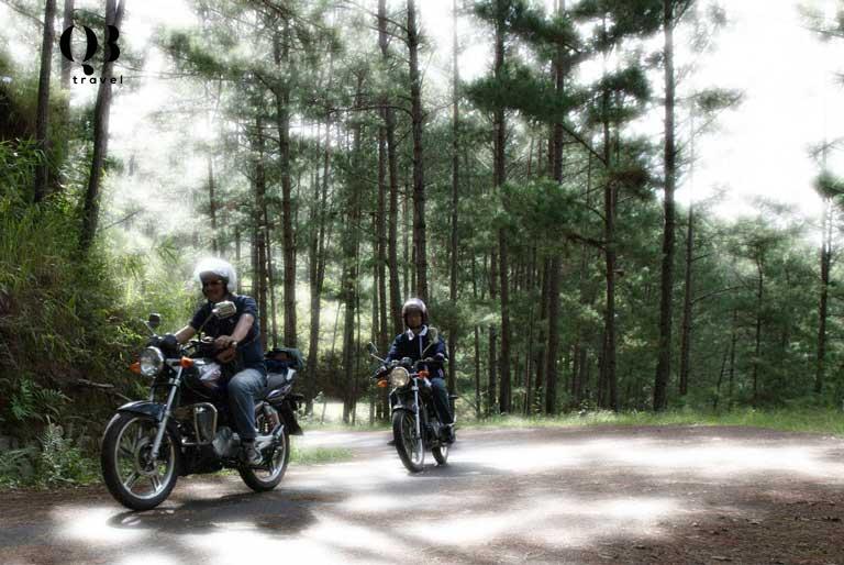 Đi phượt bằng xe máy tới thác Tà Puồng