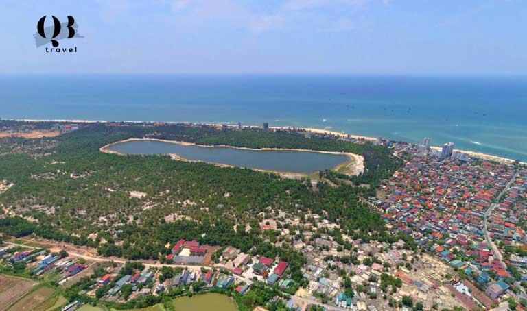 Vị trí Hồ Bàu Tró - Di chỉ khảo cổ học tại tỉnh Quảng Bình