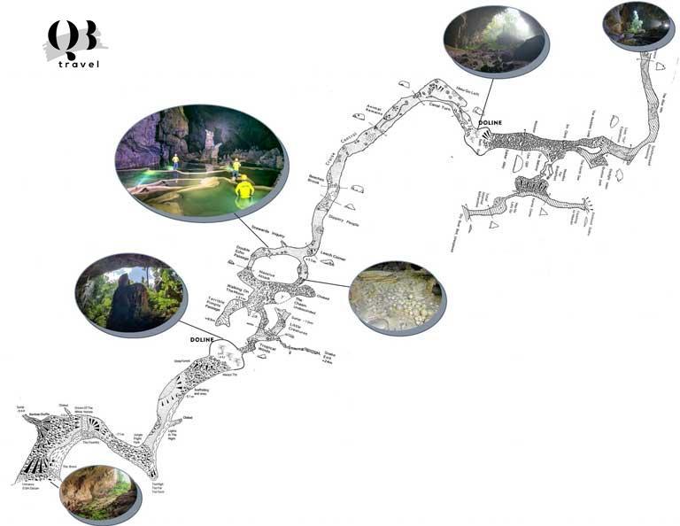 Lộ trình khám phá của du khách trong tour chinh phục hố sụt Kong Collapse