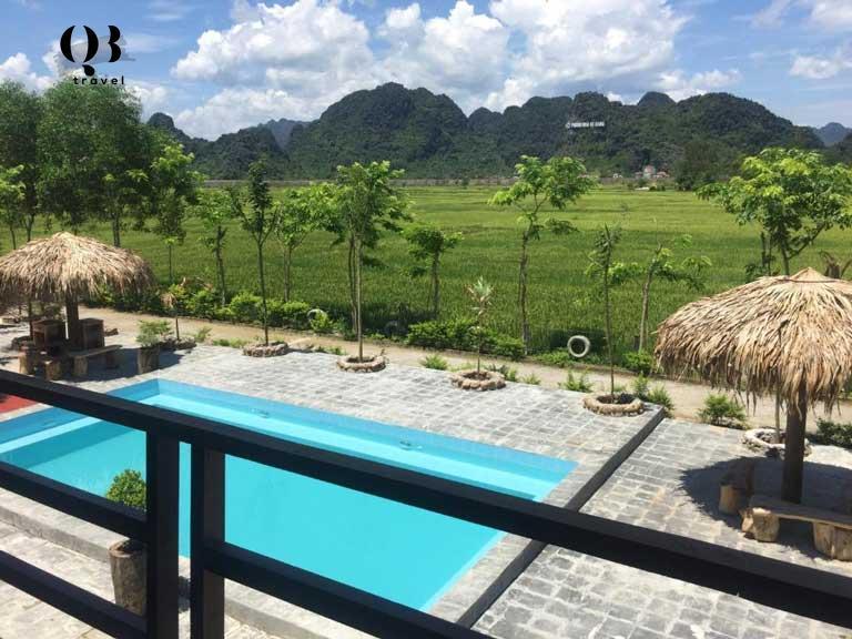 Cảnh sắc phong phú tại Syftime homestay Phong Nha
