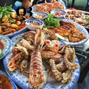 Hải sản ngon tại nhà hàng Bình Yên.