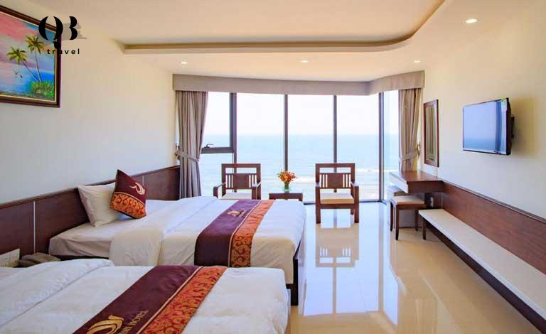Phòng Deluxe 2 giường hướng biển