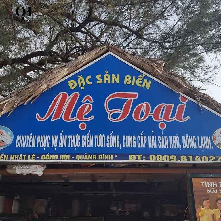Quán Mệ Toại có thực đơn phong phú, chất lượng hải sản tốt.