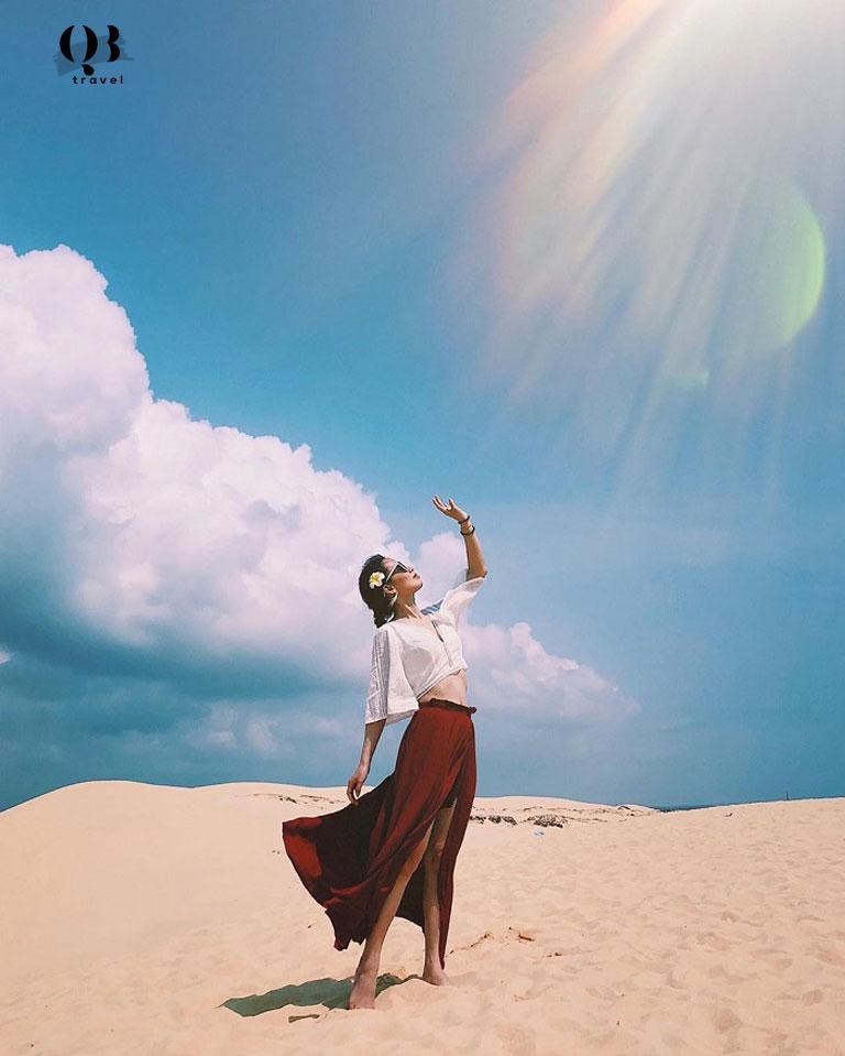 Bức ảnh cực nghệ thuật tại Đồi cát Quang Phú