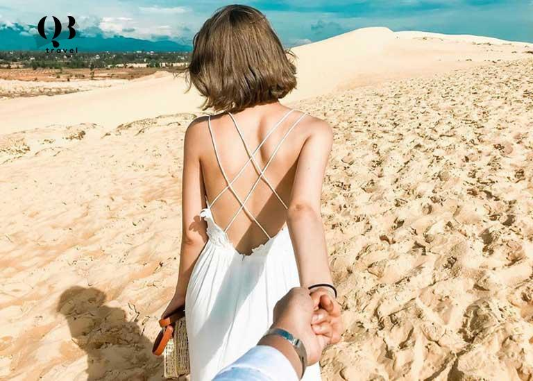 Vẻ đẹp của Đồi cát Quang Phú vô cùng cuốn hút khách du lịch