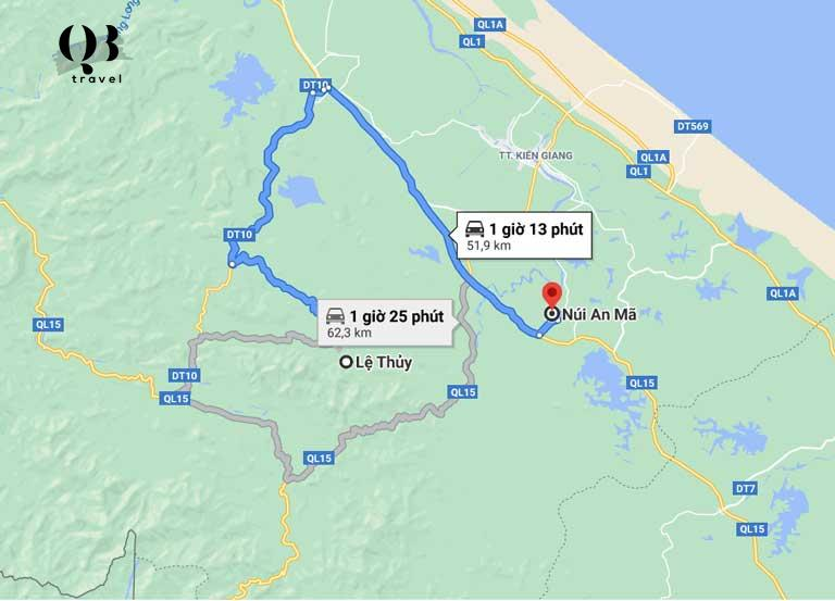 Hướng dẫn đường đi tới lăng mộ Nguyễn Hữu Cảnh