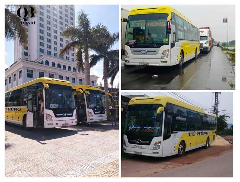 Tú Hùng là chuyến xe Quảng Bình - Hà Nội chạy ban ngày cho khách có thể linh hoạt thời gian