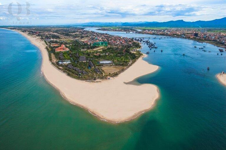 Biển Bảo Ninh tọa lạc ngay gần biển Nhật Lệ