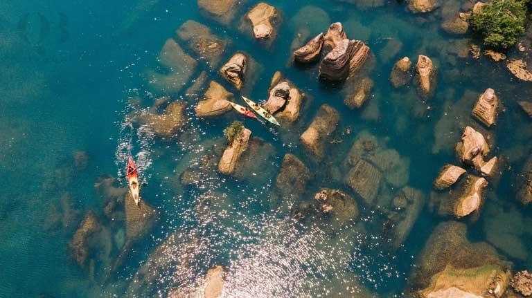 Bãi đá cạn Quảng Bình lên hình cực đẹp