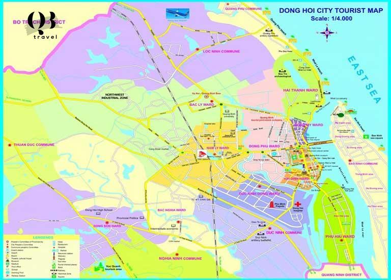 Bản đồ du lịch Đồng Hới