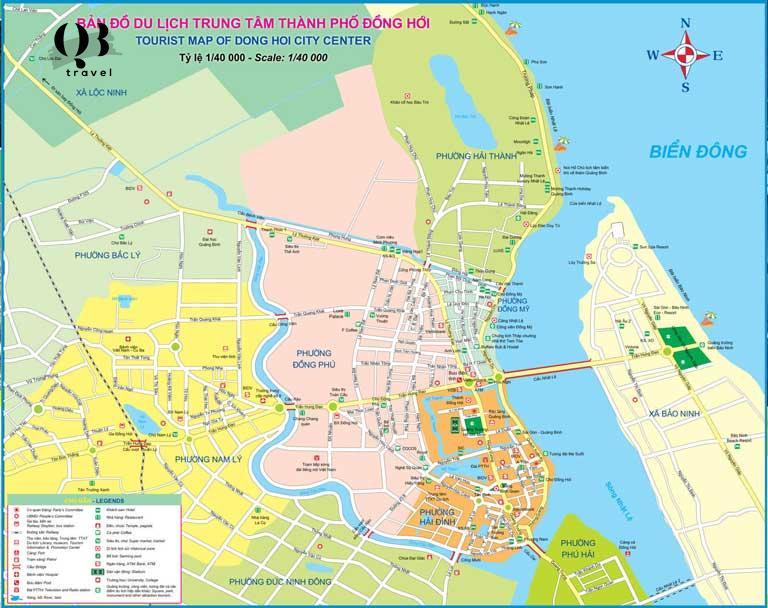 Bản đồ Đồng Hới - Các tuyến đường và hệ thống giao thông