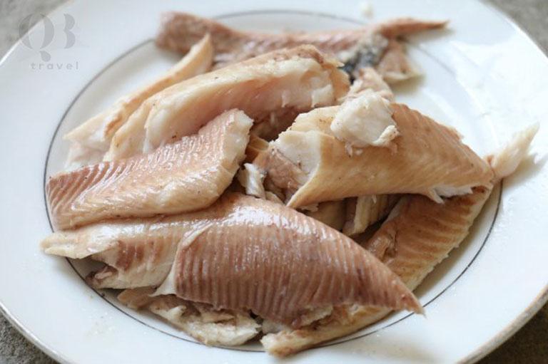Phần thịt cá lóc sau khi được tách khỏi xương