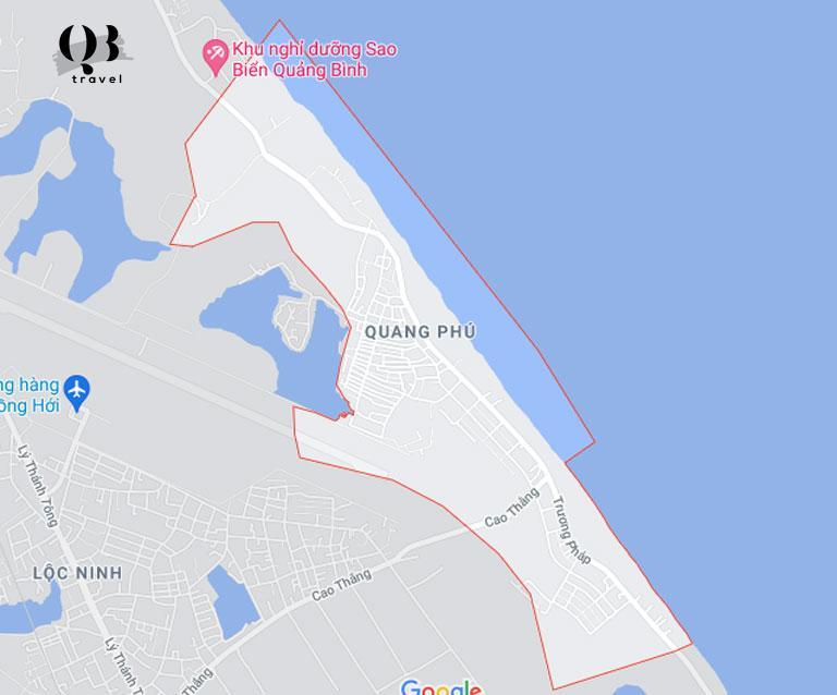 Vị trí biển Quang Phú