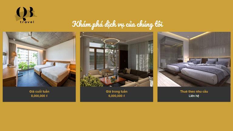Các mức giá ưu đãi chỉ có tại Vyanh Villa