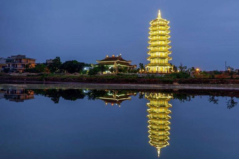 Chùa Đại Giác tạo điểm nhấn cho thành phố Đồng Hới