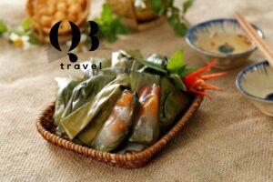 Hình ảnh quen thuộc của bánh lọc Quảng Bình