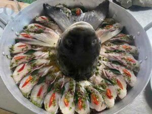 Món ăn được chế biến từ chính loài cá Trắm nuôi trên dòng sông Son xinh đẹp