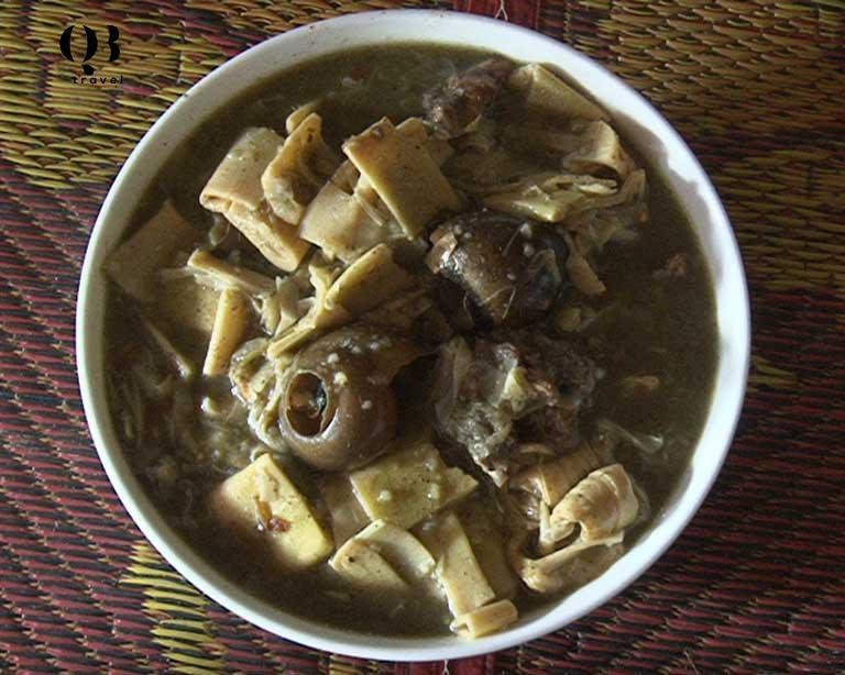 Món canh măng đặc trưng ở vùng núi Tuyên Hóa