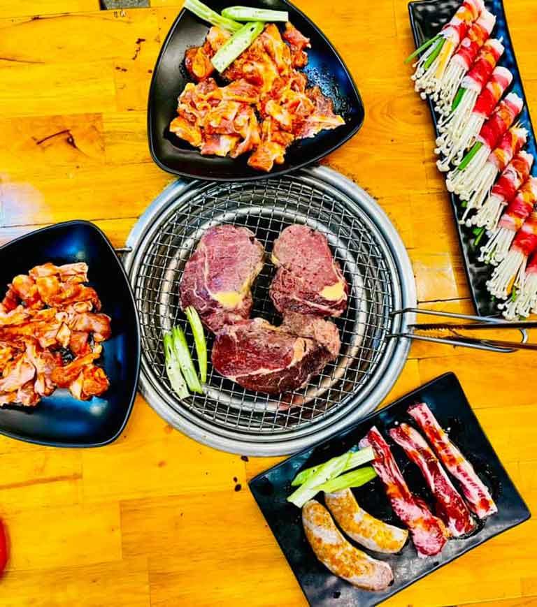 Các món nướng mang phong cách Hàn Quốc