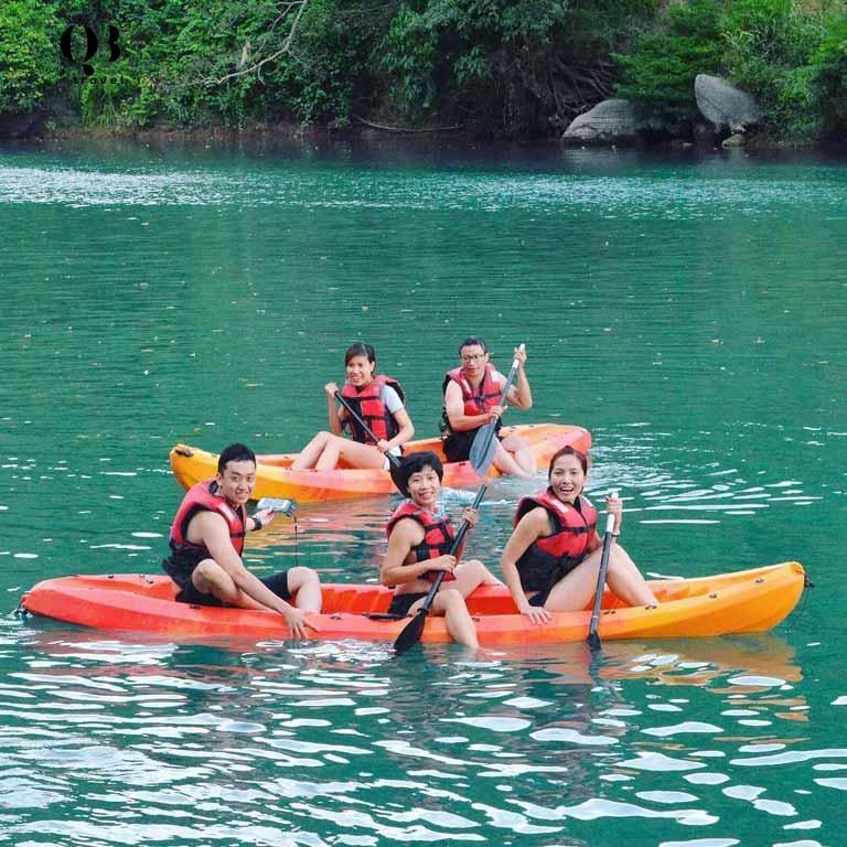 Các hoạt động vui chơi có trong tour du lịch Zipline Quảng Bình Sông Chày