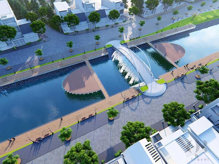 Hình ảnh dự kiến của phố đi bộ Đồng Hới