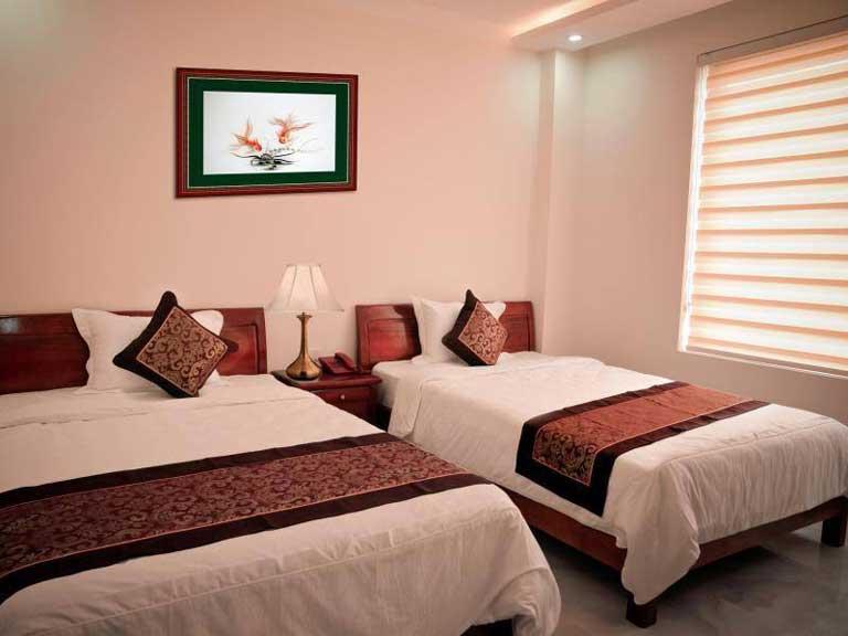 Phòng nghỉ được thiết kế sang trọng, tiện nghi