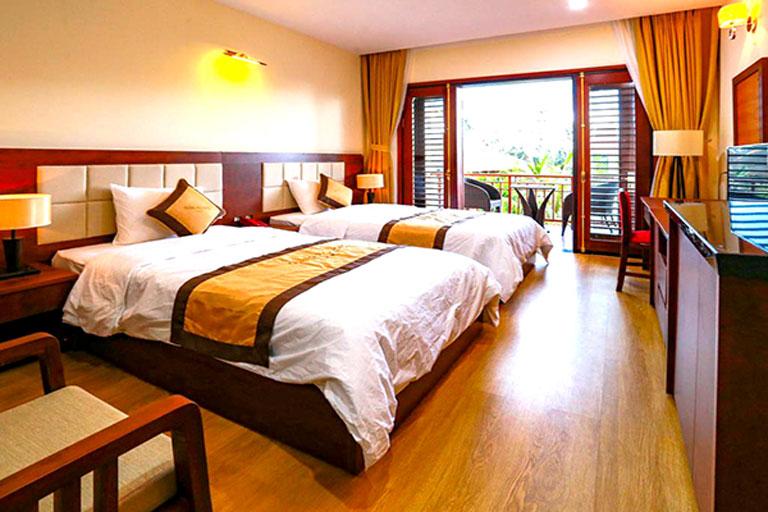 Phòng ốc hiện đại, sang trọng tại Manli Resort Quảng Bình